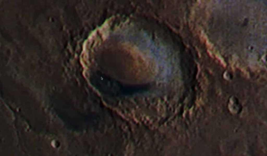 Марсианская база возле НЛО